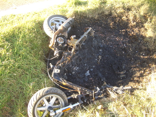 Burnt Out Scooter